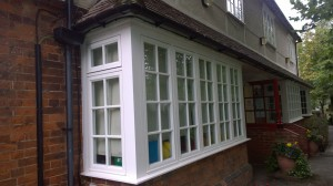 New timber windows at Mead Infant School