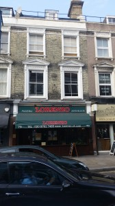 Lorenzo's restaurant, Crystal Palace