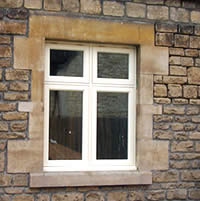 A white timber window