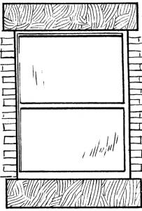 Wooden window sill