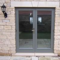 Grey french doors