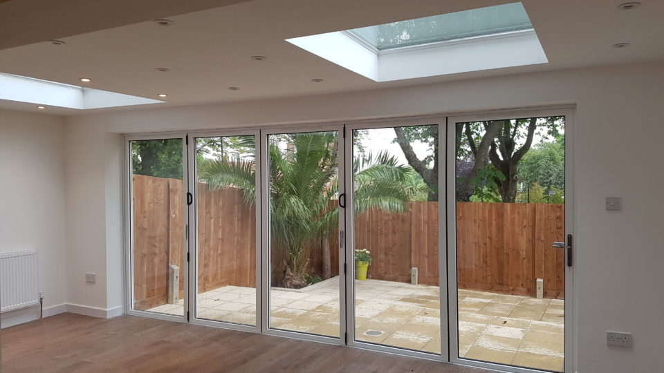Bi-fold doors, interior