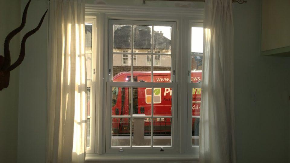 Sash windows installed
