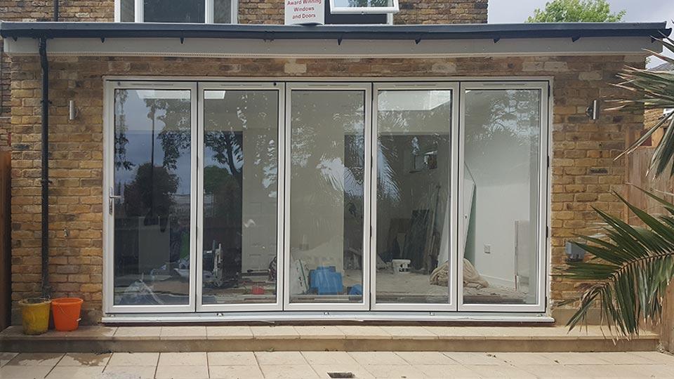 Bi-fold doors, patio installation