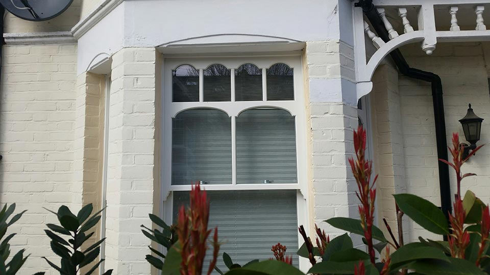 Timber sash windows with round tops, Wandsworth
