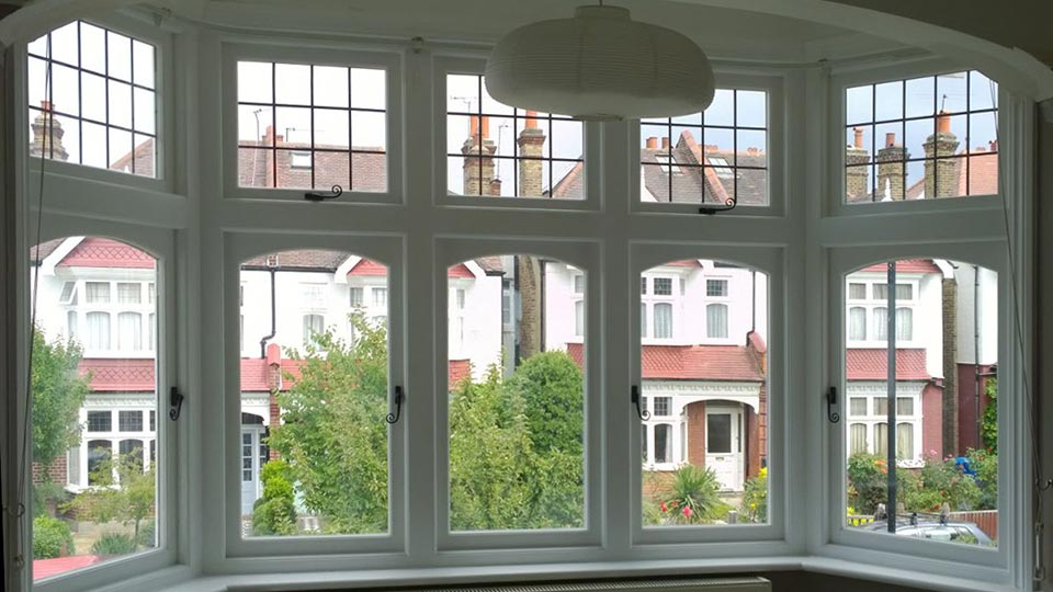 Timber windows London, interior vew