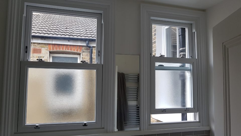 Pvc sash windows ideal for bathroom windows with easy clean from inside