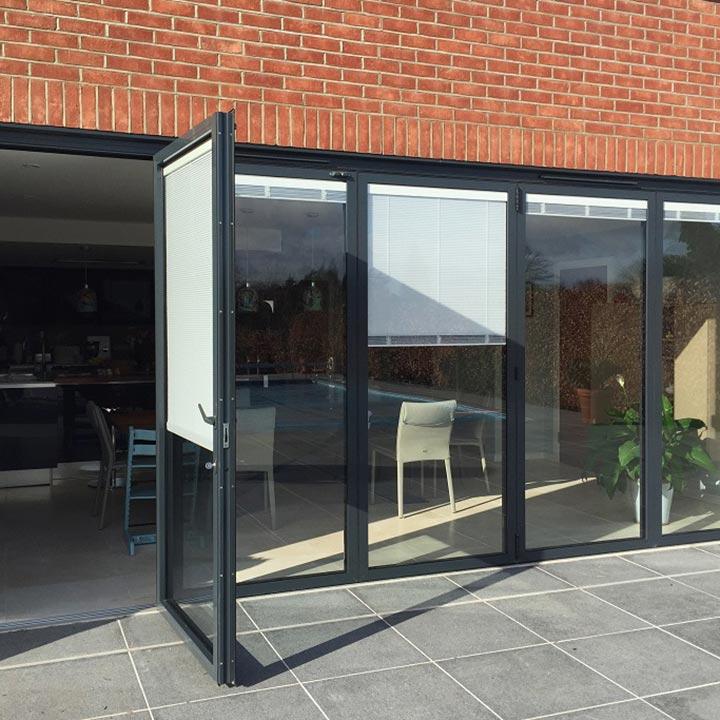 Aluminium bi-fold patio doors